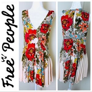 NEW FREE PEOPLE Floral Sleeveless DRESS